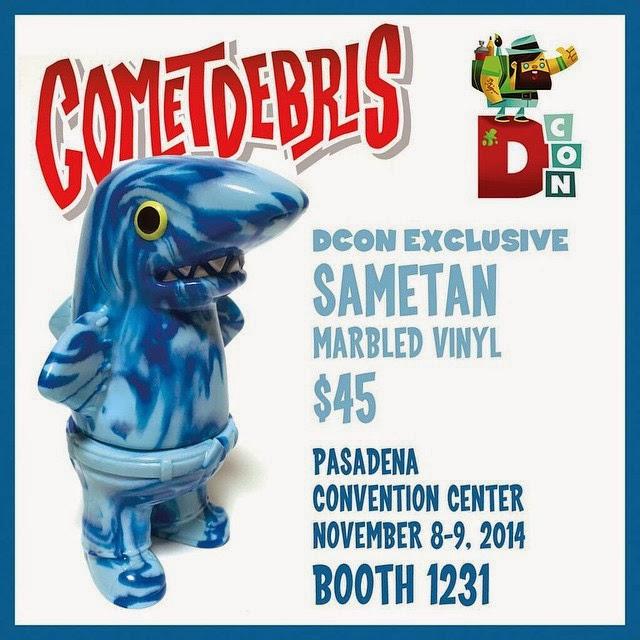 Designer Con 2014 Exclusive Marbled Blue Sametan Vinyl Figure by Cometdebris