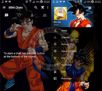 BBM Mod Son Goku Themes V2.11.0.18 Clone And Not Clone