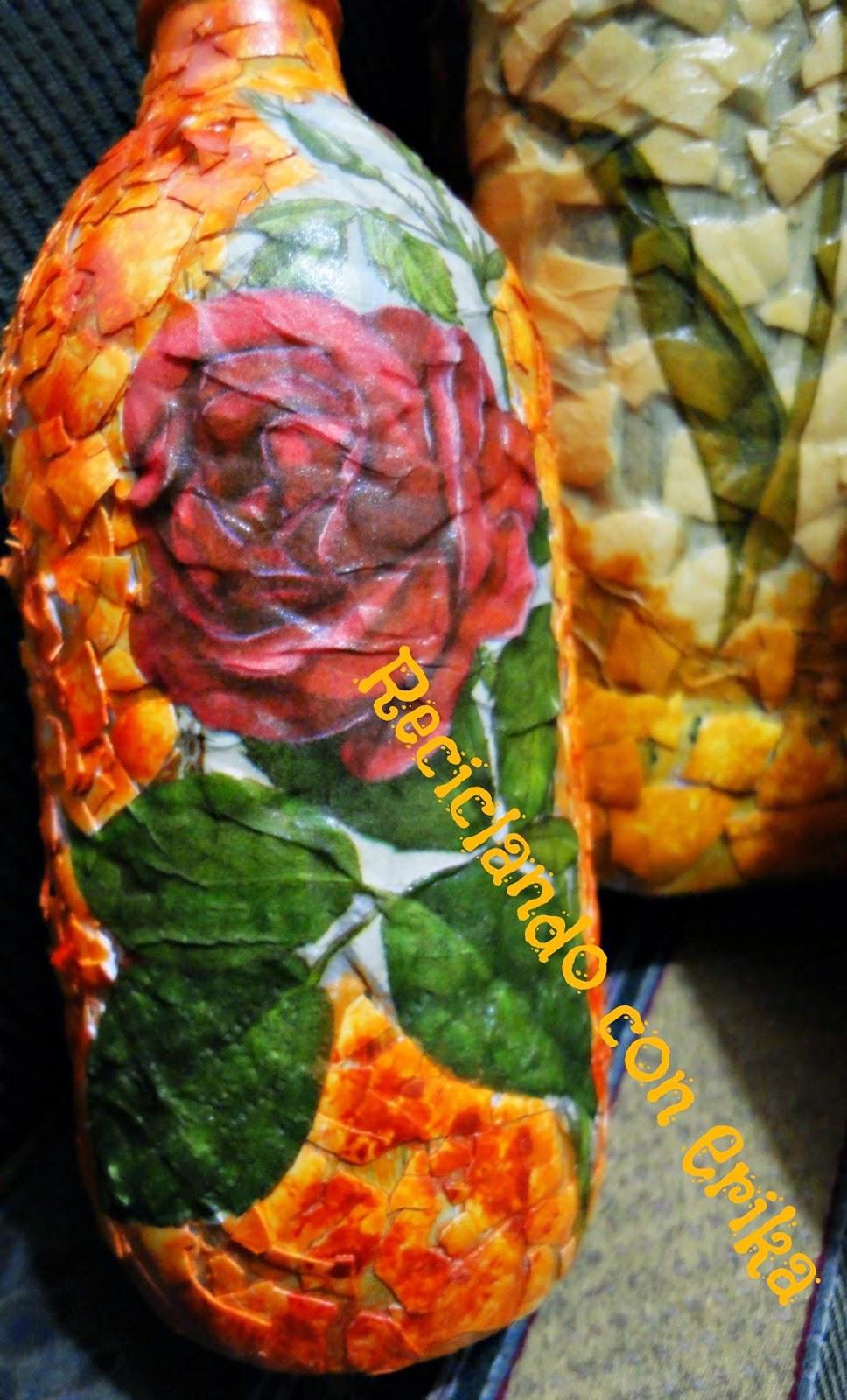 Reciclando con erika decoraci n de botellas usando for Ideas para el jardin reciclando