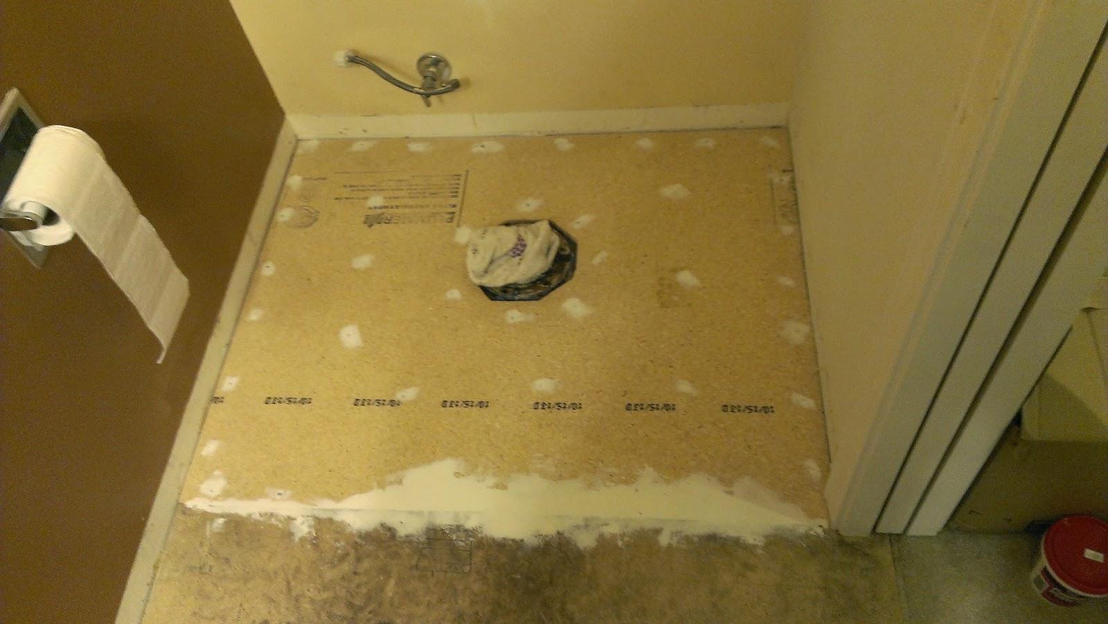 How to replace bathroom floor