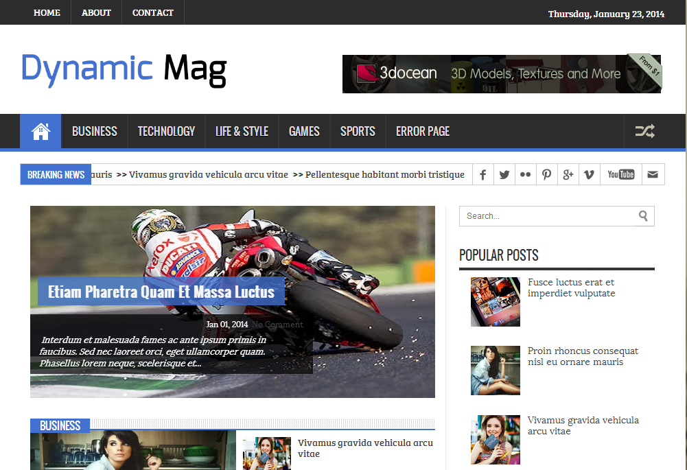 dynamic mag responsive blogger templates 2014