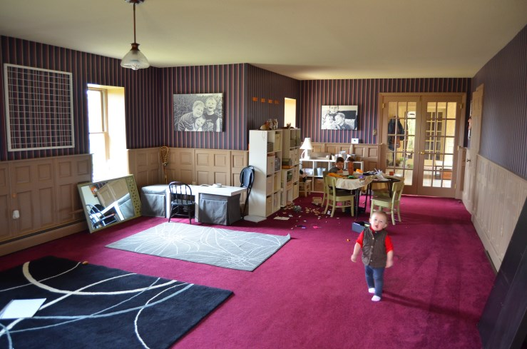Creating a Family Art Room with Pom Pom Ceiling at Stonecrest with Amy Renea of A Nest for All Seasons
