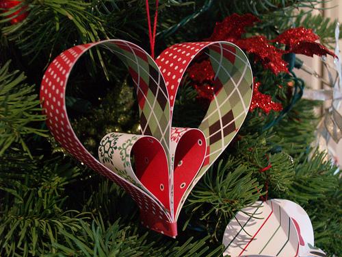 Corazón Papel Navidad