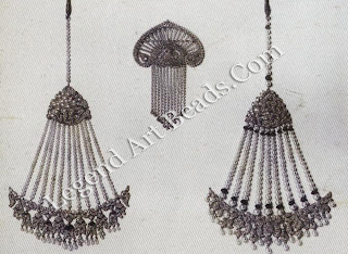 Some of the women's jewels created for Bhupindar Singh of Patiala in 1928 by Boucheron: two hair ornaments and a sari brooch.