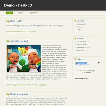 Hello :D Blogger Template convert from wordpress theme to blogger. minimalist design blogspot template
