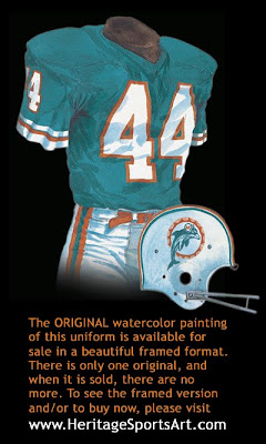 Miami Dolphins 1973 uniform