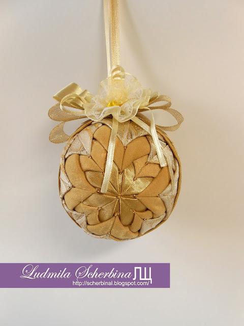 лоскутный шар на елку