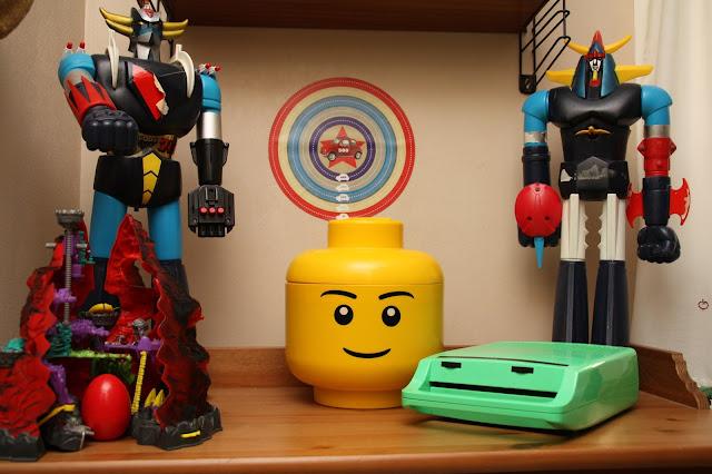 jumbo goldorak et tete lego
