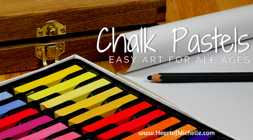 Chalk pastels are an easy and affordable medium for teaching homeschool art. www.HeartofMichelle.com