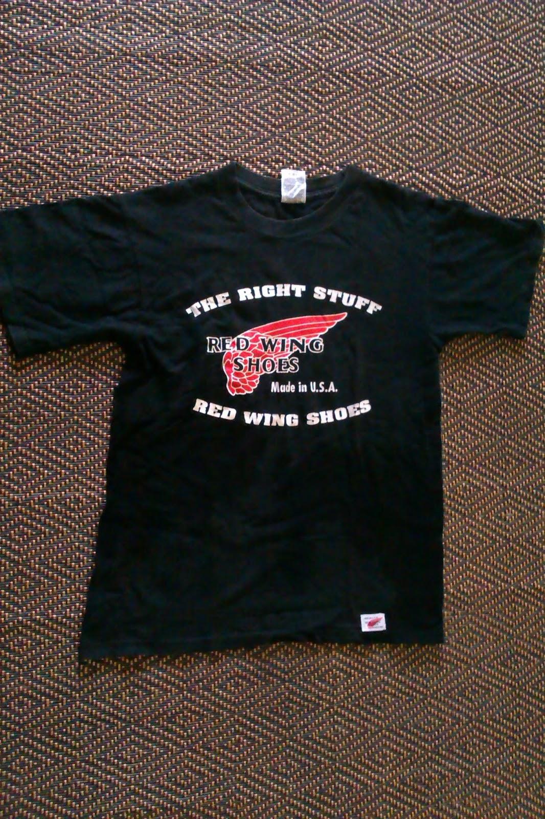 Bintang Bunder Red Wing Shoes Made In Usa Tee Shirt Black