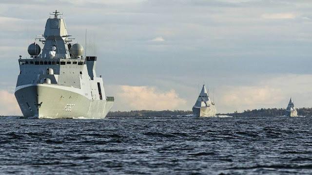 HDMS Niels Juel,  HMS Helsingborg & HMS Nykoeping