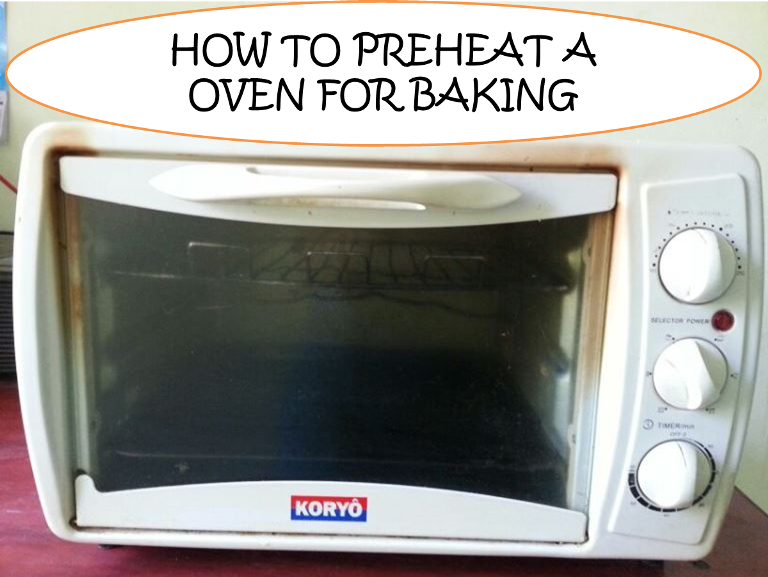 Why do you preheat the oven for baking?