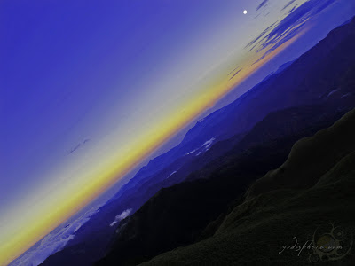 Dawn at the Mt. Pulag with its skyline