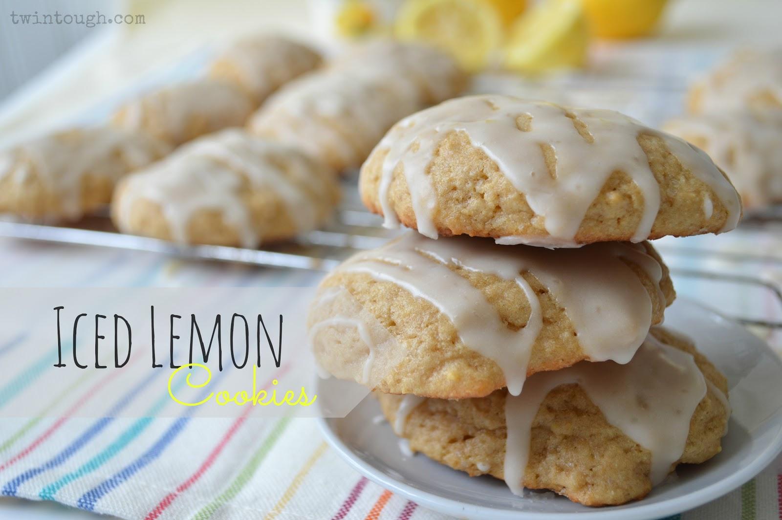 Iced Lemon Cookies with Whole Wheat and Greek Yogurt | Twin Tough