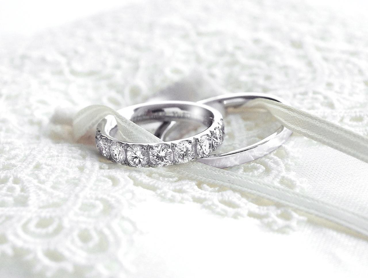 母から頂いたダイヤモンドで記念のマリッジリング(結婚指輪)を作る。