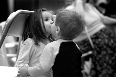 Cute Child Kiss Love