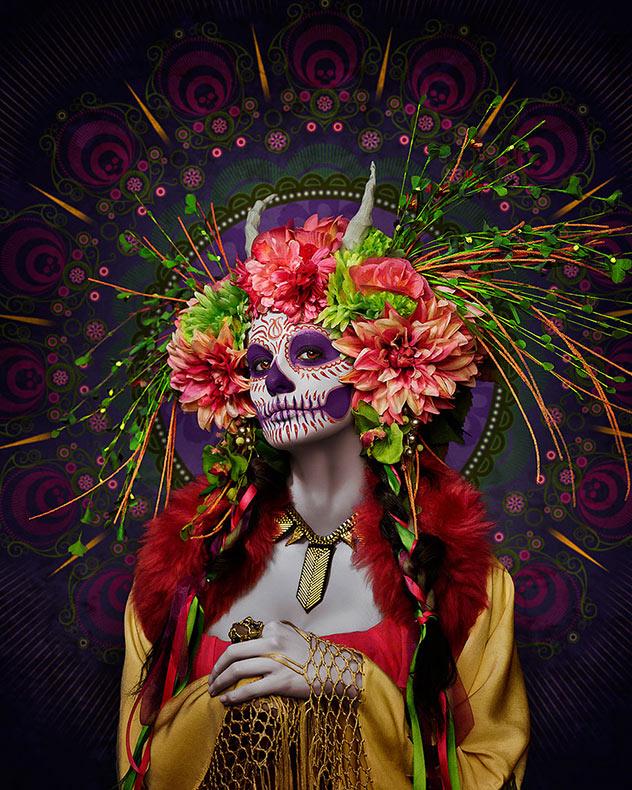 Las Muertas: Fotógrafo crea un tributo colorido a Día de los Muertos