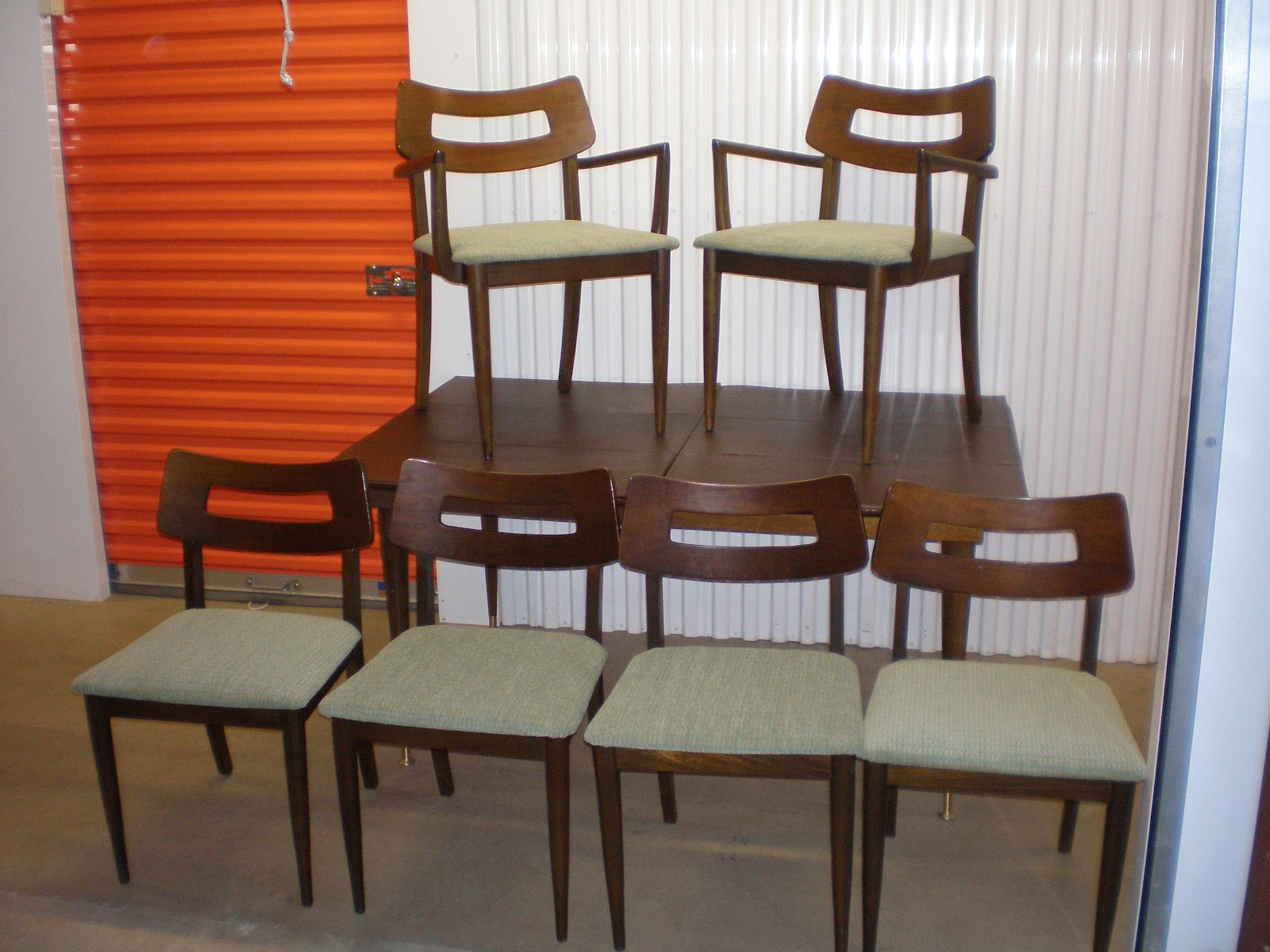 The Retrospective Modernist Walnut Dining Chairs by Bassett SOLD