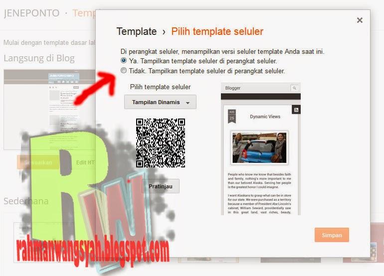 Menonaktifkan Tampilan Mobile Pada Blogger