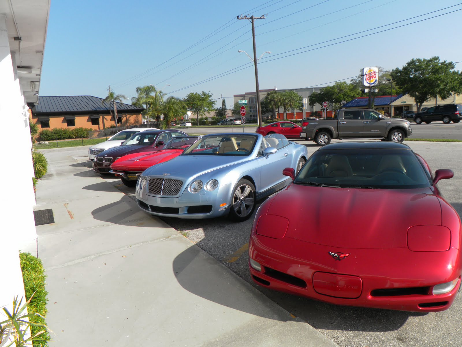 I Know What You Are Wondering Yes That Second Car From The Right Is A 2007 Bentley Convertible