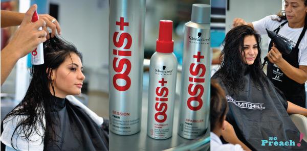 cabelo, escova, spray de volume Osis+ da Swarskopf