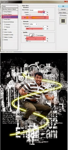 Tutorial edit foto efek glow di dance ray di photoshop