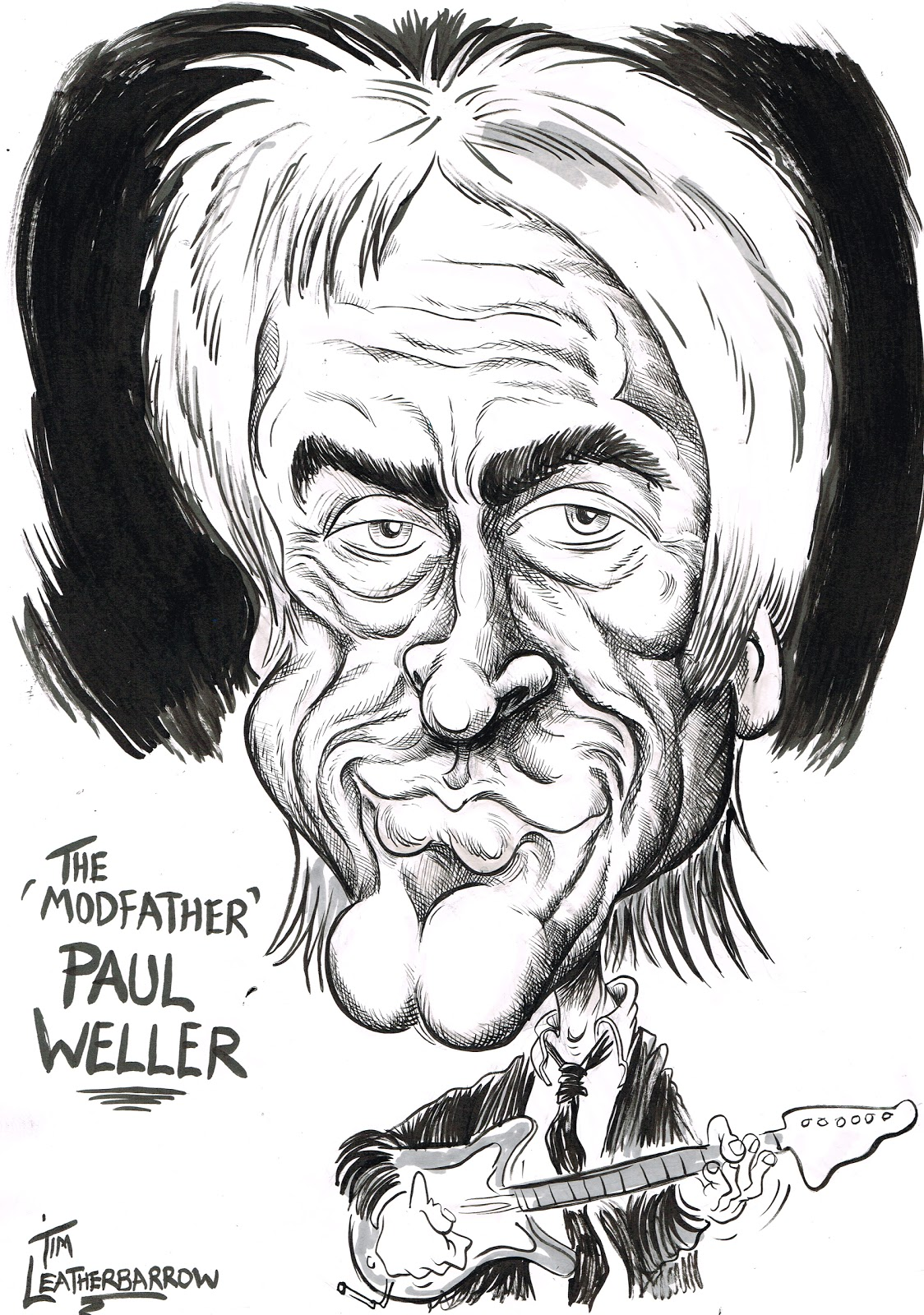Tim Leatherbarrow Paul Weller The Modfather Might Have A Silly