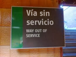 Out of service in Spain