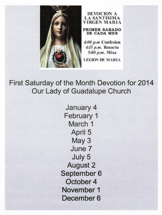 First Saturday Devotion