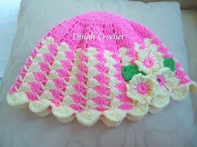 Dinah crochet little girl hat little girl hat ccuart Gallery
