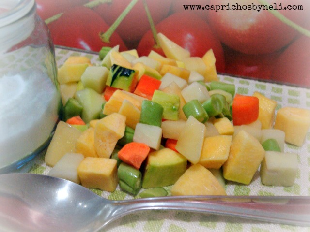 sopa, legumes e verduras