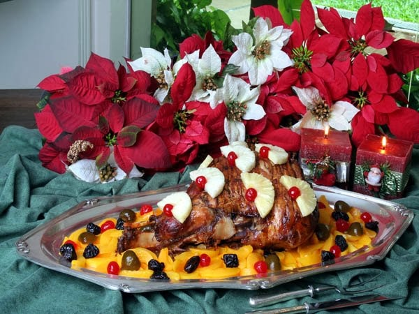 Receitas que mais gosto,toques de decoraç u00e3o,dicas e variedades PERNIL COM FRUTAS ESPECIAL DE  -> Como Decorar Frutas Para Ano Novo