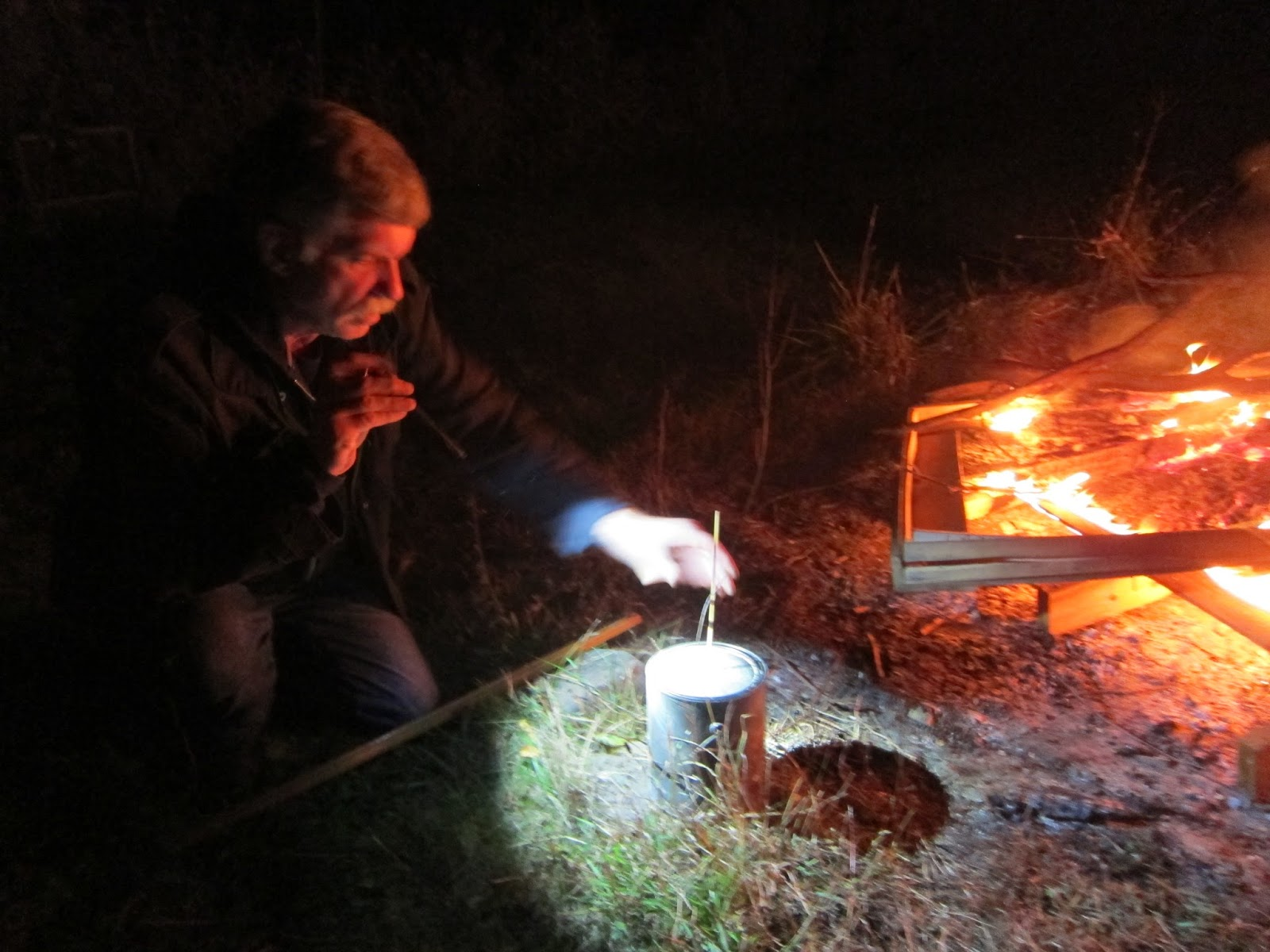 Suustainable Making Charcoal With Open Fire