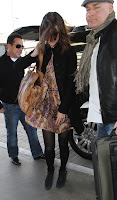 Keira Knightley arriving at LAX
