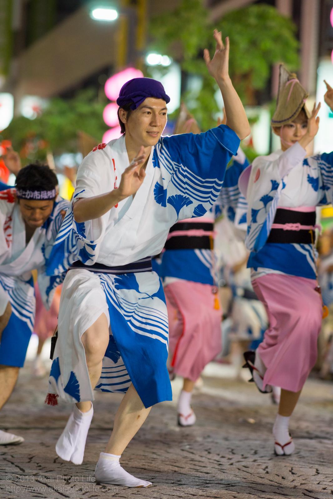 三鷹阿波踊り、みたか市役所連の男踊り
