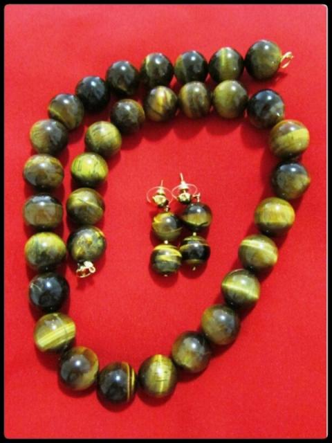 moda estilo acessórios colar brincos olho de tigre diy artesanato joias bijoux