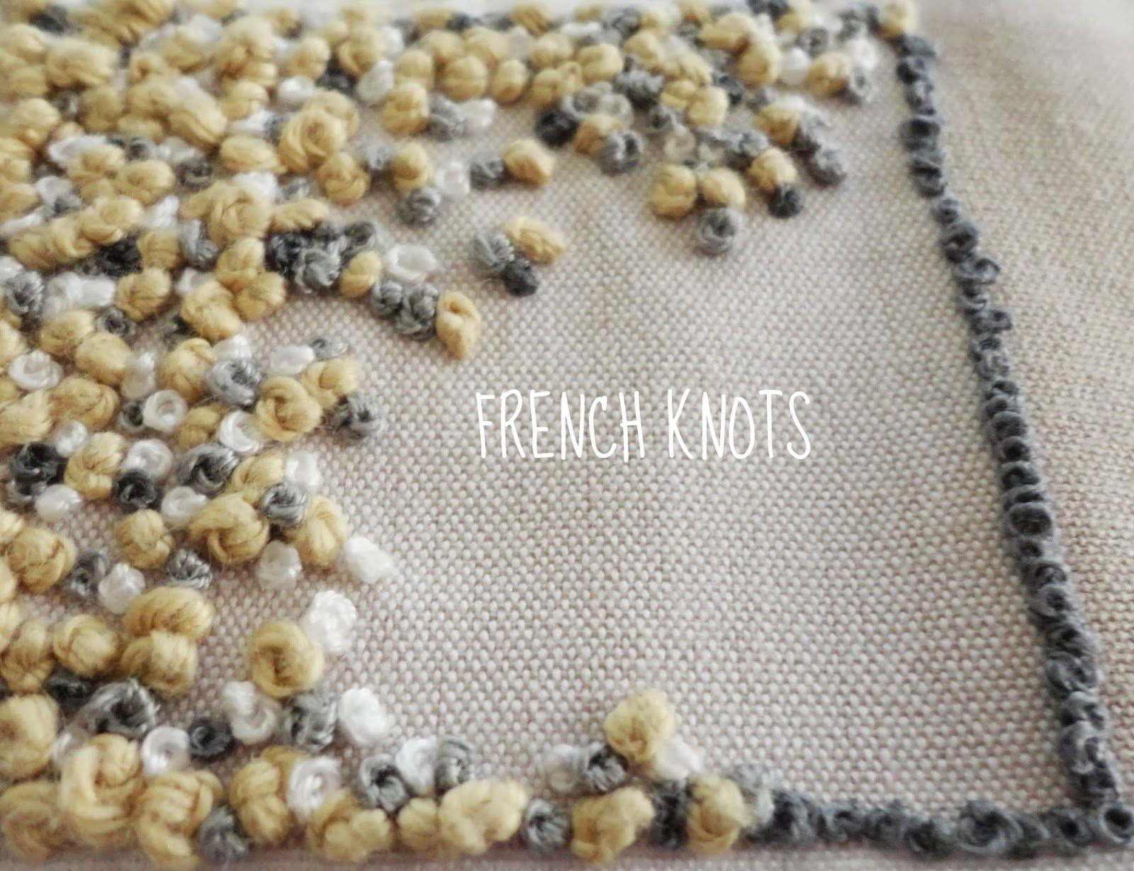 French Knots Words Hand Embroidery Journey