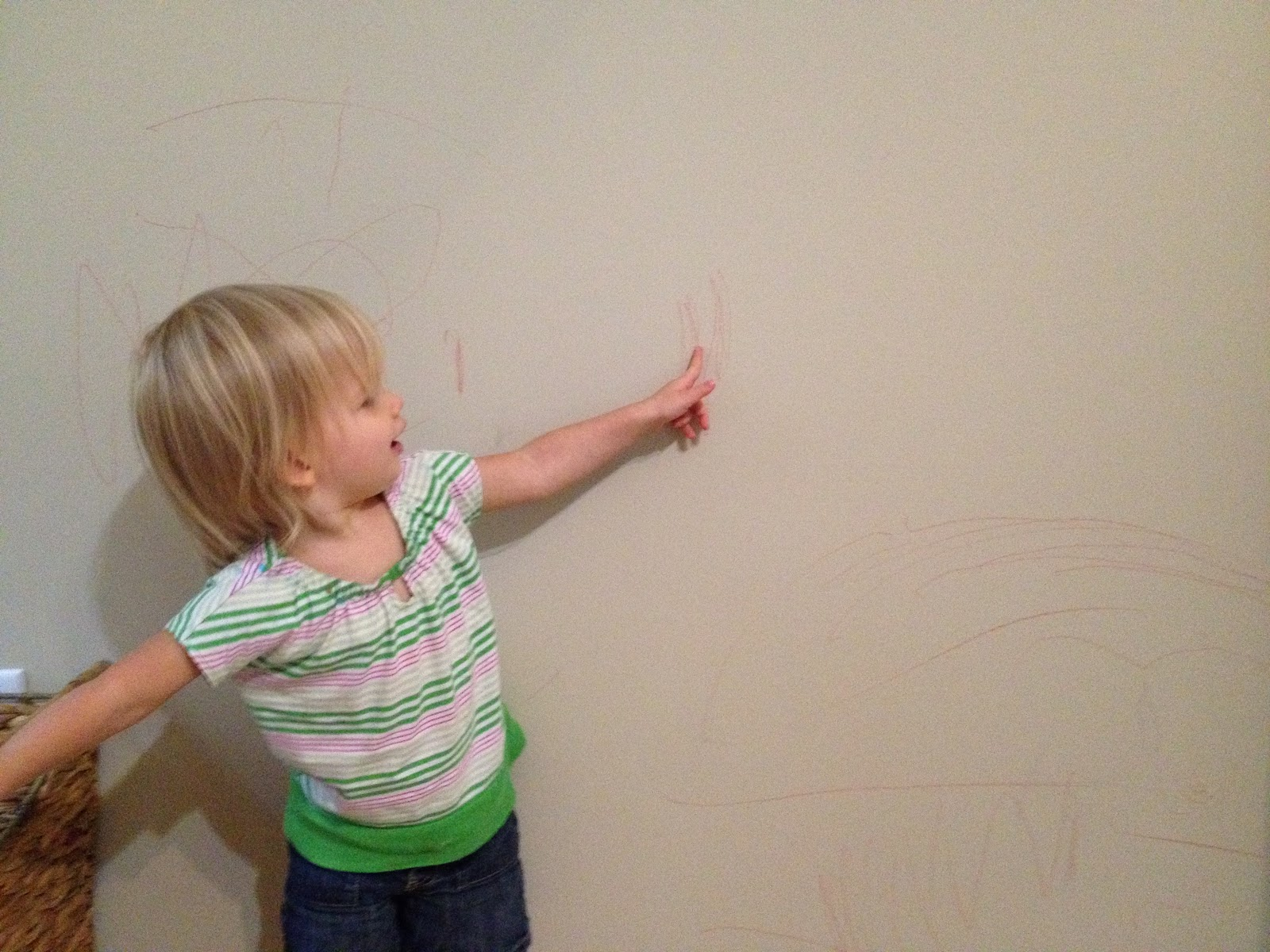 The diy guinea pig getting crayon off the walls - Remove crayon walls ...