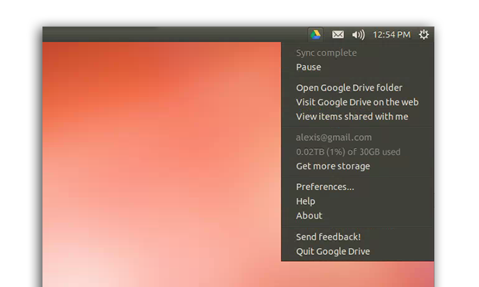 official google drive linux
