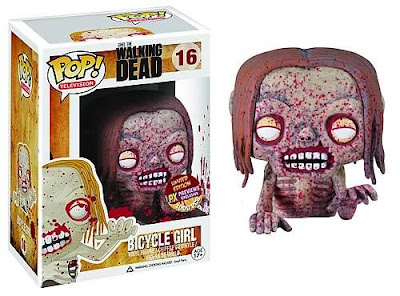 Previews Exclusive The Walking Dead Blood Splattered Bicycle Girl Zombie Pop! Television Vinyl Figure by Funko