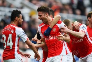 Video Gol Newcastle United vs Arsenal 1-2