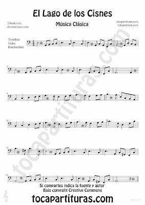 Tubescore Swan Lake by Tchaikovski Sheet Music for Trombone, Tube and Euphonium Swan Lake for Trombone, Tube and Euphonium Music Score Classical Music