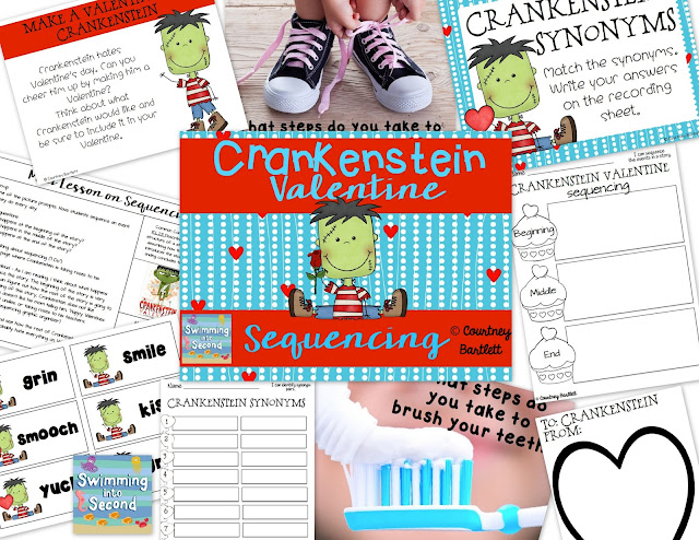 https://www.teacherspayteachers.com/Product/Sequencing-Minilesson-with-Crankenstein-Valentine-1694362