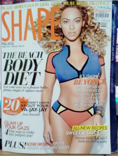 Beyonce lose weight fast, Shape magazine