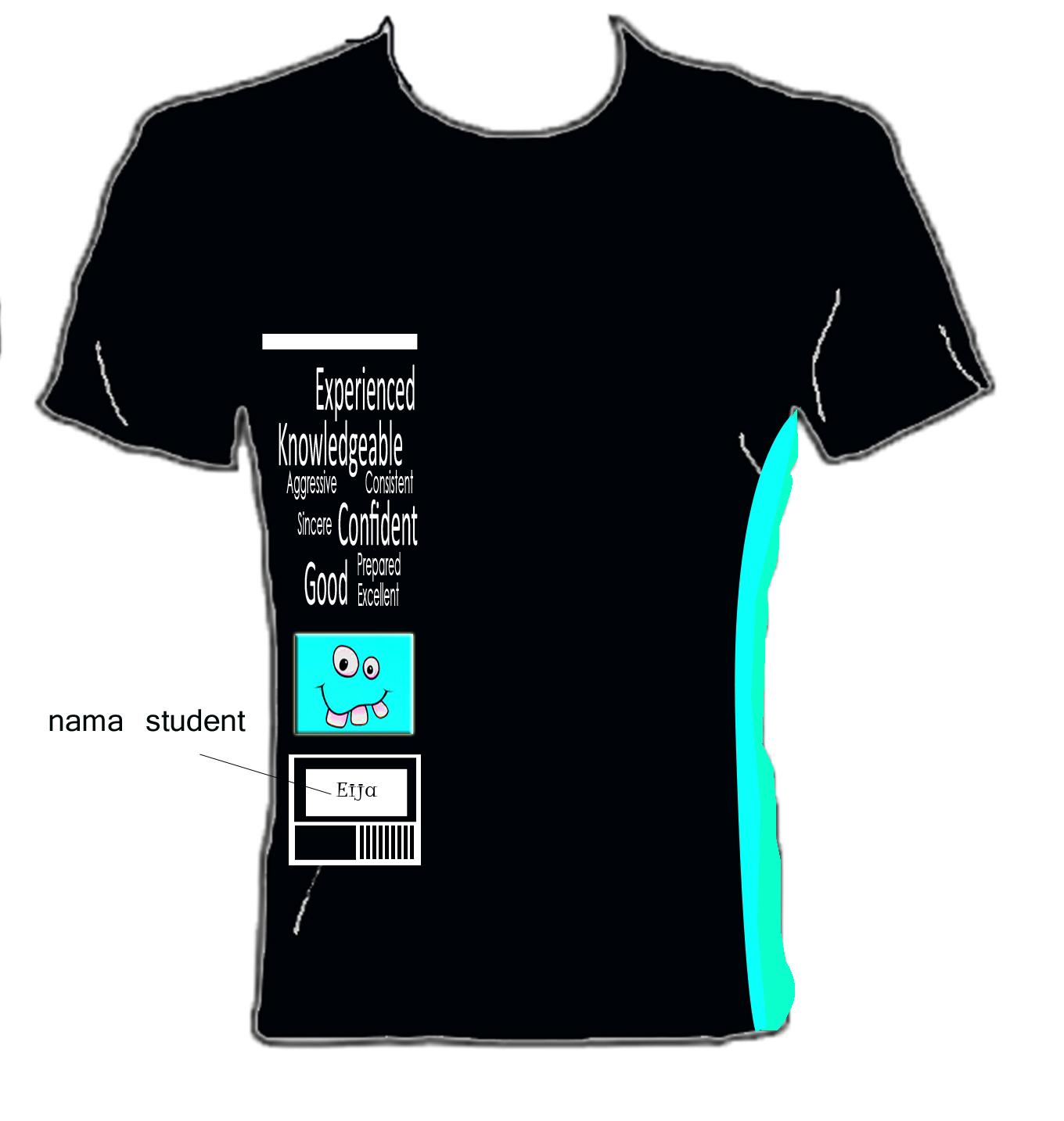 Design t shirt rumah sukan - Pelajar Tingkatan 5 2012