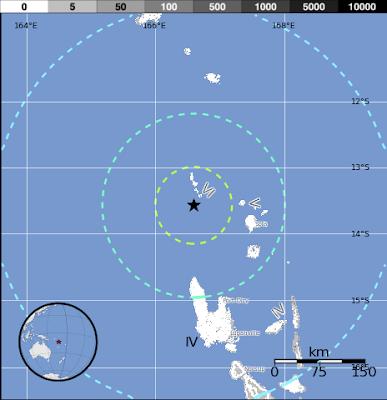 Terremoto 6,6 grados en Vanuatu, 20 de Octubre 2012