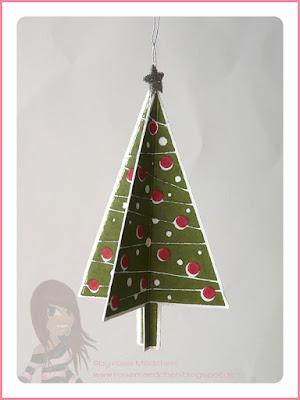 Stampin' Up! Rosa Mädchen Kulmbach 3D Weihnachtsbaum Tannenbaumstanze Christbaumfestival