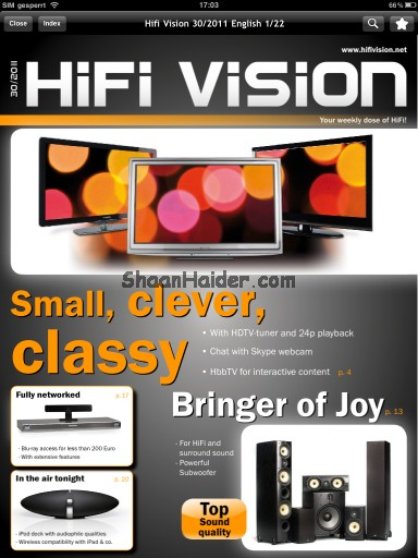 HiFi Vision Magazine : A Must Have iPad App For Gadget Lovers