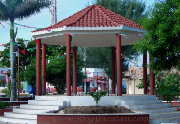 Kiosco Sisal Yucatan Mexico