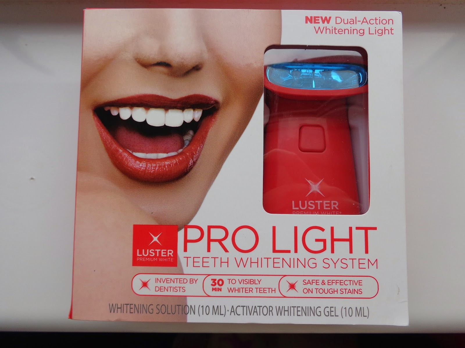 luster pro light teeth whitening system review jenna suth. Black Bedroom Furniture Sets. Home Design Ideas